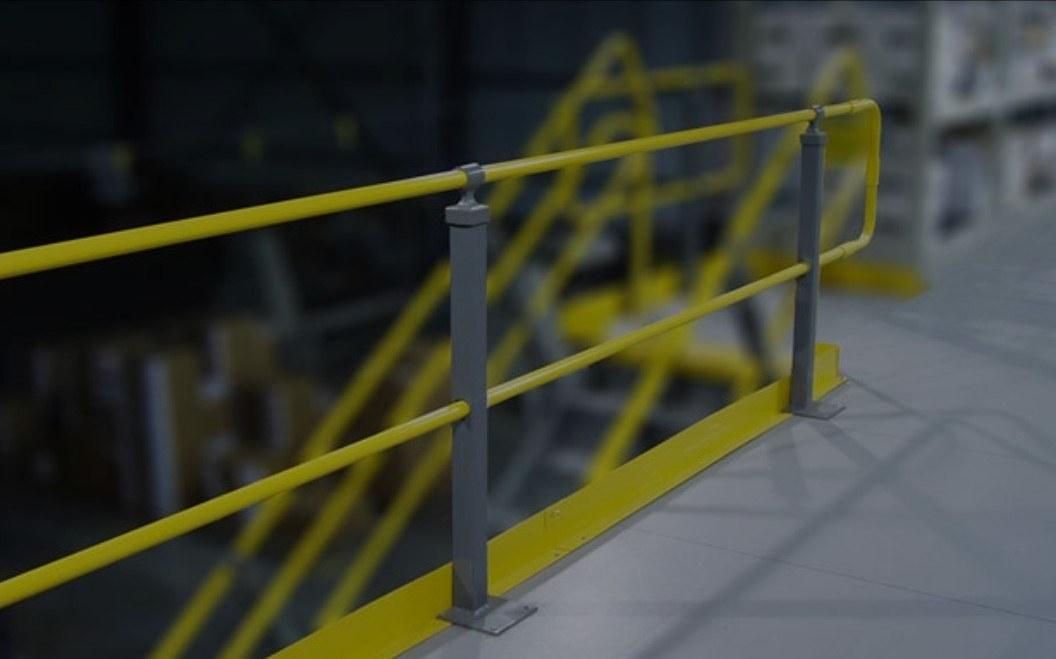 Two-Rail Mezzanine Handrail